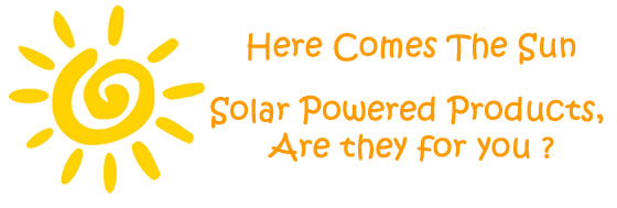 Solar Powered Products Banner